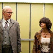 Cloud Atlas: James D'Arcy in una scena del film con Halle Berry