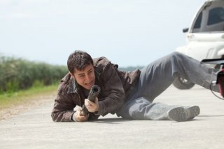 Joseph Gordon-Levitt in azione in Looper