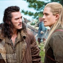 The Hobbit: There and Back Again: Luke Evans e Orlando Bloom nella prima immagine tratta dal film