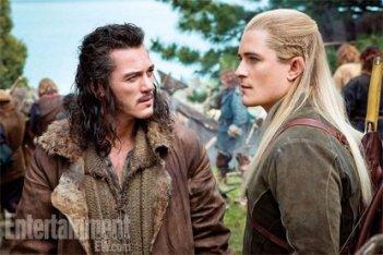The Hobbit: There and Back Again: Luke Evans e Orlando Bloom nella prima immagine tratta dal film