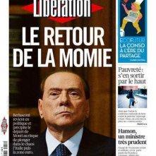 Silvio Berlusconi in prima pagina su Libération (dicembre 2012): Il ritorno della mummia