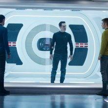 Benedict Cumberbatch, Chris Pine e Zachary Quinto nella prima immagine ufficiale di Star Trek Into Darkness