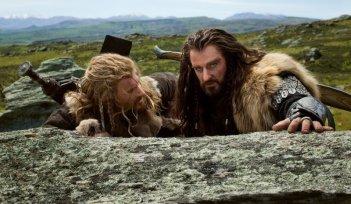 Dean O'Gorman e Richard Armitage in una scena de Lo Hobbit - Un viaggio inaspettato