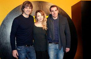 Cose cattive: da sinistra Luca Argentero, Myriam Catania e Simone Gandolfo, ospiti a Courmayeur 2012