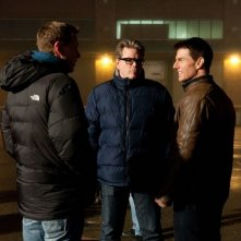 Jack Reacher - La prova decisiva: il regista Christopher McQuarrie con Tom Cruise sul set