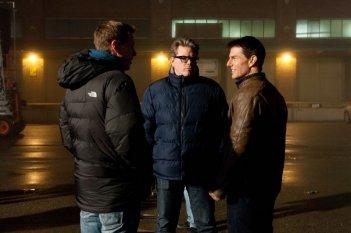 Jack Reacher - La prova decisiva: il regista Christopher McQuarrie con Tom Cruise sul set