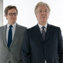 Alan Rickman e Colin Firth in una scena della commedia Gambit