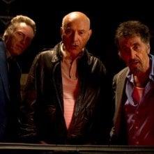 Stand Up Guys: i protagonisti Al Pacino, Christopher Walken e Alan Arkin in una scena