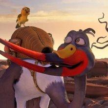 Zambezia: l'uccello Gogo in una scena del film in 3D insieme a Tini