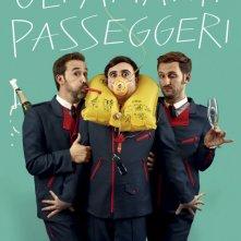 Gli amanti passeggeri: il teaser poster del nuovo film di Pedro Almódovar disegnato da Jean Paul Goude