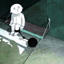 Jean de la Lune (Moon Man) il protagonista in una scena del film d'animazione