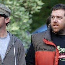 The World's End: Simon Pegg e Nick Frost sul set