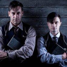 A Young Doctor's Notebook: Jon Hamm e Daniel Radcliffe in una immagine promozionale della serie
