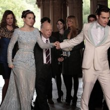 Gossip Girl: Leighton Meester e Ed Westwick in una scena dell'episodio finale New York, I Love You XOXO