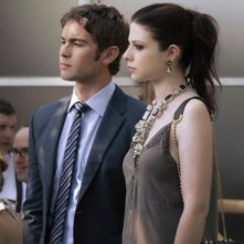 Gossip Girl: Michelle Trachtenberg e Chace Crawford una scena dell'episodio Gone Maybe Gone