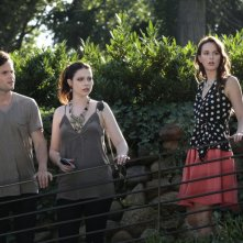 Gossip Girl: Penn Badgley, Michelle Trachtenberg e Leighton Meester una scena dell'episodio Gone Maybe Gone
