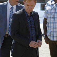 CSI Miami: David Caruso, Rex Linn e Omar Benson Miller in una scena dell'episodio Il mostro di Miami, della decima stagione