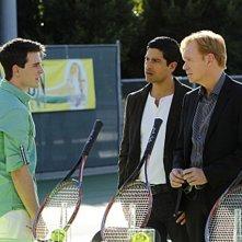 CSI Miami: David Caruso, Travis Caldwell e Adam Rodriguez in una scena dell'episodio Habeas Corpse della decima stagione