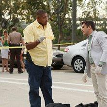 CSI Miami: Jonathan Togo e Oman Benson Miller in una scena dell'episodio L'ultimo lancio, della decima stagione