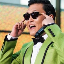 PSY durante una performance