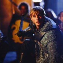 Merlin: Bradley James druante una scena dell'episodio La maledizione di Cornelius Sigan, della seconda stagione