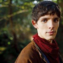 Merlin: Colin Morgan durante un momento dell'episodio Il labirinto Gedref, della prima stagione