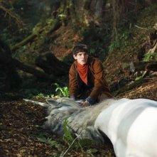 Merlin: Colin Morgan in una scena dell'episodio Il labirinto Gedref, della prima stagione