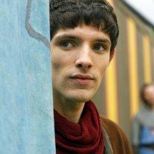 Merlin: Colin Morgan in una scena dell'episodio La Regina del passato e del futuro, della seconda stagione