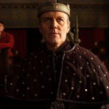 Merlin: Anthony Head, Bradley James e Katie McGarth in una scena dell'episodio Il cacciatore di streghe della seconda stagione