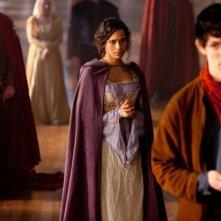 Merlin: Colin Morgan e Angel Coulby in una scena dell'episodio Il cacciatore di streghe della seconda stagione