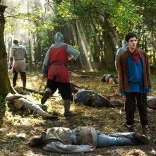Merlin: Colin Morgan in un momento dell'episodio La rianimazione della strega, della seconda stagione