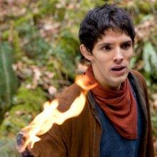 Merlin: Colin Morgan in una scena dell'episodio L'incubo ha inizio, della seconda stagione