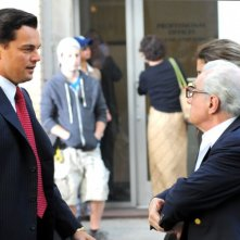Leonardo DiCaprio e Martin Scorsese sul set di The Wolf of Wall Street