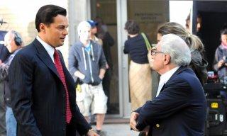 Leonardo DiCaprio e Martin Scorsese sul set di The Wolf of Wall Street