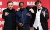 Quentin Tarantino a Roma con il cast di Django Unchained