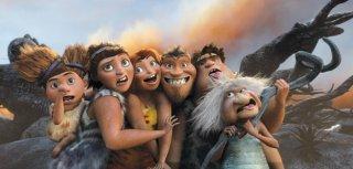 I Croods: foto di gruppo per la famiglia preistorica