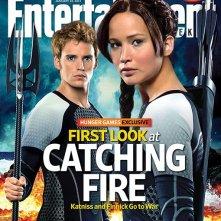 Copertina di Entertainment Weekly dedicata a Hunger Games: la ragazza di fuoco