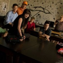 Carter Jenkins, Chris Colfer, Ashley Rickards, Rebel Wilson e Sarah Hyland in Struck by Lightning