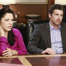 Grey's Anatomy: Sara Ramirez e Patrick Dempsey nell'episodio Second Opinion, della nona stagione
