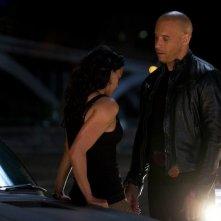 Vin Diesel e Michelle Rodriguez in una scena di The Fast and the Furious 6
