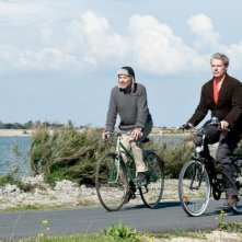 Fabrice Luchini e Lambert su due ruote nel film Alceste à bicyclette