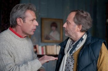 Fabrice Luchini e Lambert Wilson interpretano due amici nella commedia Alceste à bicyclette, di Philippe Le Guay