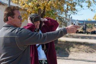 The Last Stand - L'ultima sfida: Arnold Schwarzenegger con Johnny Knoxville