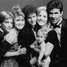 Joanna Kerns, Alan Thicke, Kirk Cameron, Tracey Gold e Jeremy Miller in Genitori in blue jeans
