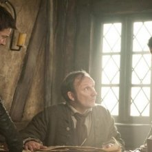 Gemma Arterton e Jeremy Renner in Hansel and Gretel: Witch Hunters con Stig Frode Henriksen