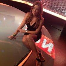 Selvaggia Lucarelli dietro le quinte del suo programma 'Celebrity Now'
