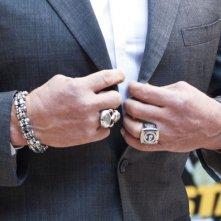 Arnold Schwarzenegger presenta The Last Stand a Roma: un dettaglio del suo abito