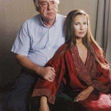 Alberto Bevilacqua e Natacha Amal sul set di Gialloparma
