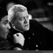 Salvatore Ruocco e Gaetano di Vaio in una foto scattata durante le prove del film TAKE FIVE