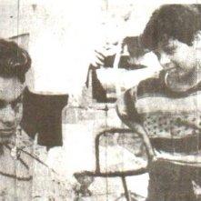Il piccolo Gaetano Autiero con Sophia Loren sul set di 'Pane amore e...'